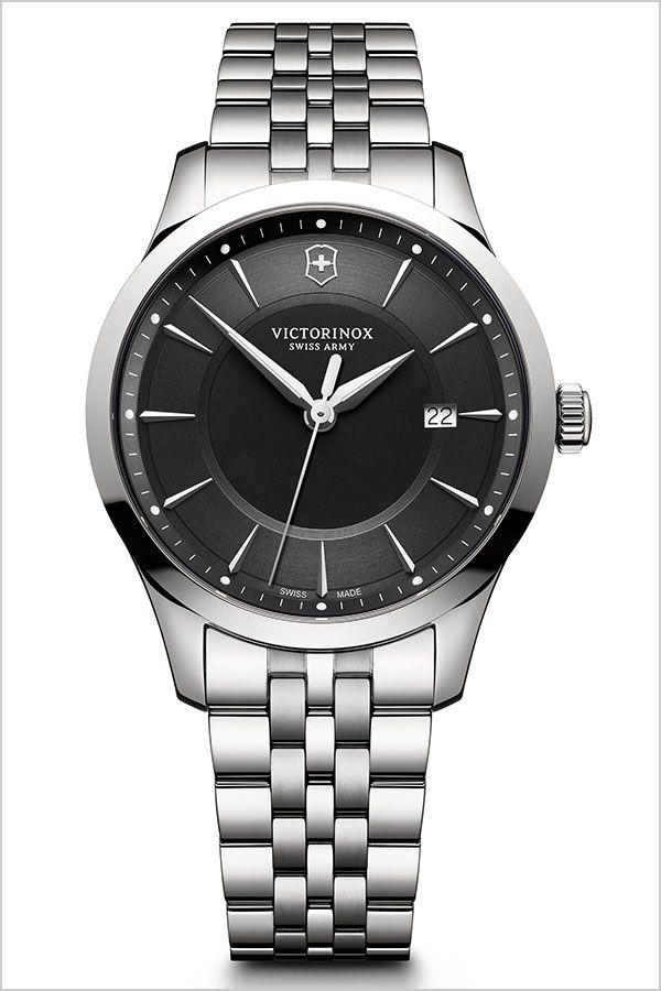 ビクトリノックススイスアーミー腕時計 VICTORINOXSWISSARMY時計 VICTORINOX 腕時計 ビクトリノックス 時計 アライアンス ALLIANCE メンズ ブラック VIC-241801 [ 正規品 定番 ブランド ビジネス スーツ ブラック カレンダー シルバー プレゼント ギフト ][]