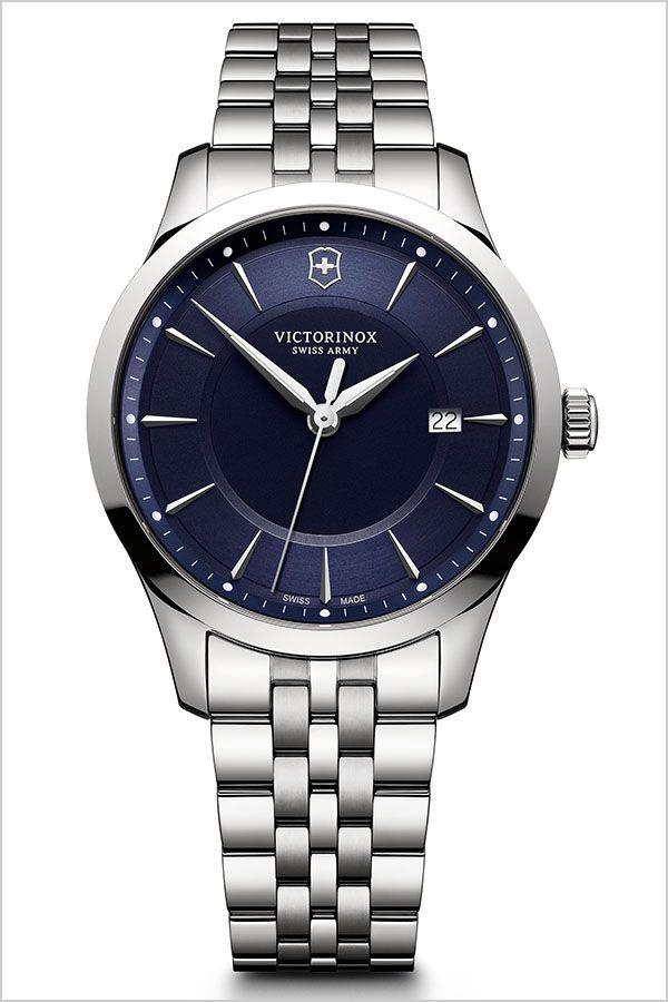ビクトリノックススイスアーミー腕時計 VICTORINOXSWISSARMY時計 VICTORINOX 腕時計 ビクトリノックス 時計 アライアンス ALLIANCE メンズ ブルー VIC-241802 [ 正規品 定番 ブランド ビジネス スーツ ブルー カレンダー シルバー プレゼント ギフト ][]