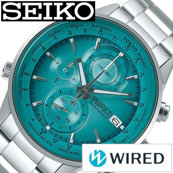 セイコー腕時計 SEIKO時計 SEIKO 腕時計 セイコー 時計 ワイアード WIRED メンズ グリーン AGAW451 [ 正規品 ブランド おすすめ ビジネス スーツ カジュアル 防水 シルバー ステンレス プレゼント ギフト ][送料無料]