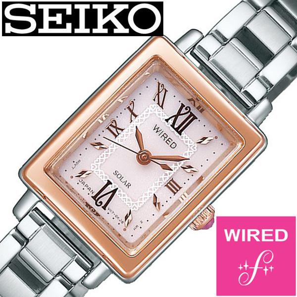 セイコー腕時計 SEIKO時計 SEIKO 腕時計 セイコー 時計 ワイアード エフ WIRED f レディース ピンク AGED100 [ 正規品 ブランド おすすめ ビジネス スーツ カジュアル 防水 シルバー ステンレス ソーラー ] 誕生日