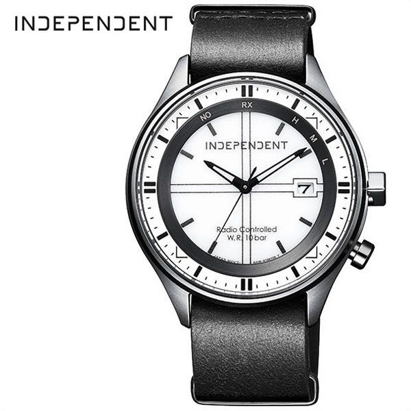 シチズン腕時計 CITIZEN時計 CITIZEN 腕時計 シチズン 時計 インディペンデント INDEPENDENT メンズ ホワイト KL8-643-10 [ 正規品 ビジネス カジュアル モダン メタル 軽量 おしゃれ 防水 ソーラー 電波時計 ブラック 革ベルト レザー プレゼント ギフト ]
