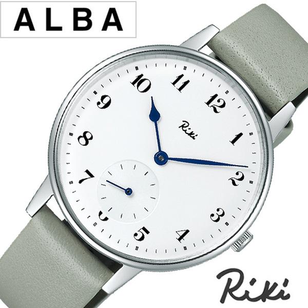 セイコーアルバリキ腕時計 SEIKOALBARiki時計 SEIKO ALBA Riki 腕時計 セイコー アルバ リキ 時計 メンズ 男性 彼氏 夫 ホワイト AKPK431 [ ラウンド 革ベルト レザー ブランド シンプル ビジネス カジュアル] 誕生日