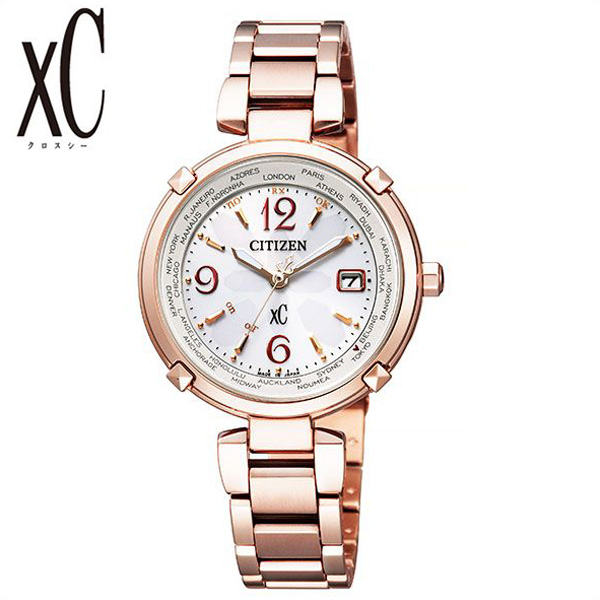 [SALE](15600円引き 割引き セール 安い )シチズン腕時計 CITIZEN時計 CITIZEN 腕時計 シチズン 時計 クロスシー xC レディース 女性 向け ホワイト EC1047-57A [ 正規品 ブランド ラウンド 防水 ソーラー 電波時計 チタン ピンクゴールド かわいい おしゃれ ] 誕生日