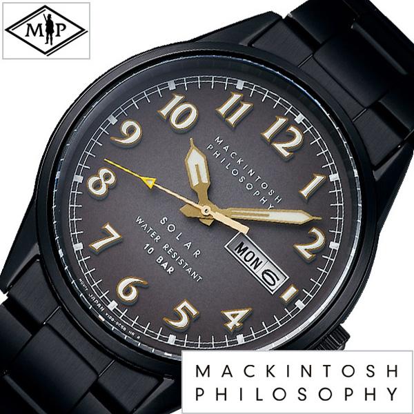 (電池交換不要) ソーラー マッキントッシュフィロソフィー腕時計 MACKINTOSHPHILOSOPHY時計 MACKINTOSH PHILOSOPHY 腕時計 マッキントッシュ フィロソフィー 時計 メンズ 男性 彼氏 夫 ブラック FBZD703 [ ゴールド ブランド カレンダー シンプル ビジネス プレゼント ]