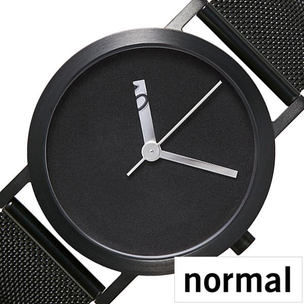 [当日出荷] ノーマルタイムピーシーズ腕時計 normalTIMEPIECES時計 normal TIMEPIECES 腕時計 ノーマル 時計 エクストラノーマル グランデ GRANDE メンズ 男性 向け 夫 彼氏 ブラック NML020077 [ 正規品 北欧 シンプル ステンレス ベルト プレゼント ギフト ]