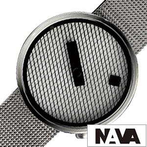 ナバデザイン腕時計 NAVA DESIGN時計 NAVA DESIGN 腕時計 ナヴァデザイン 時計 ジャガード JACQUARD メンズ 男性 向け 夫 彼氏 ホワイト NVA020042 [ 正規品 人気 ブランド 北欧 デザイン シンプル ステンレス メタル ベルト プレゼント ギフト ][送料無料]