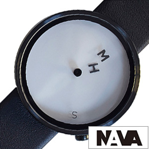 ナバデザイン腕時計 NAVA DESIGN時計 NAVA DESIGN 腕時計 ナヴァデザイン 時計 エイチエムエス HMS メンズ 男性 向け 夫 彼氏 ホワイト NVA020043 [ 正規品 人気 ブランド 北欧 デザイン シンプル 革ベルト レザー プレゼント ギフト 送料無料] 誕生日