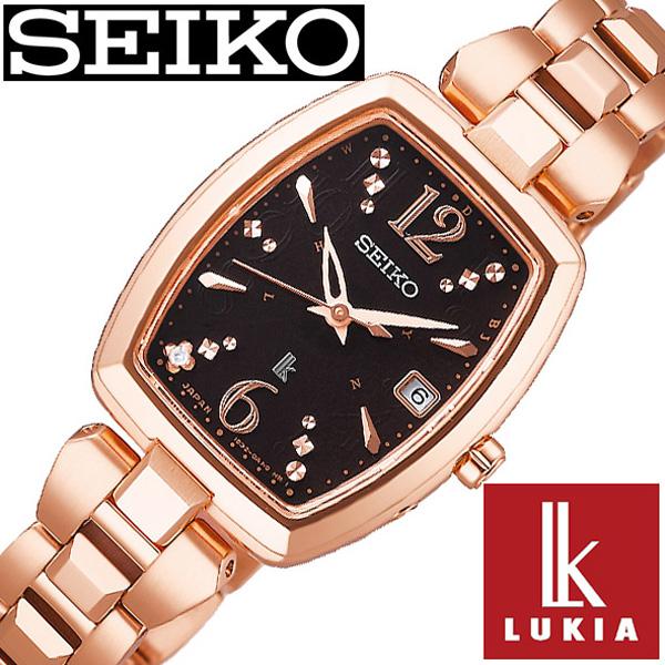 セイコー ルキア 腕時計 レディース ソーラー 電波 セイコールキア腕時計 SEIKOLUKIA 時計 SEIKO LUKIA ブラック SSVW128 [ シンプル カレンダー プレゼント ギフト ダイヤ かわいい ファッション カジュアル ]