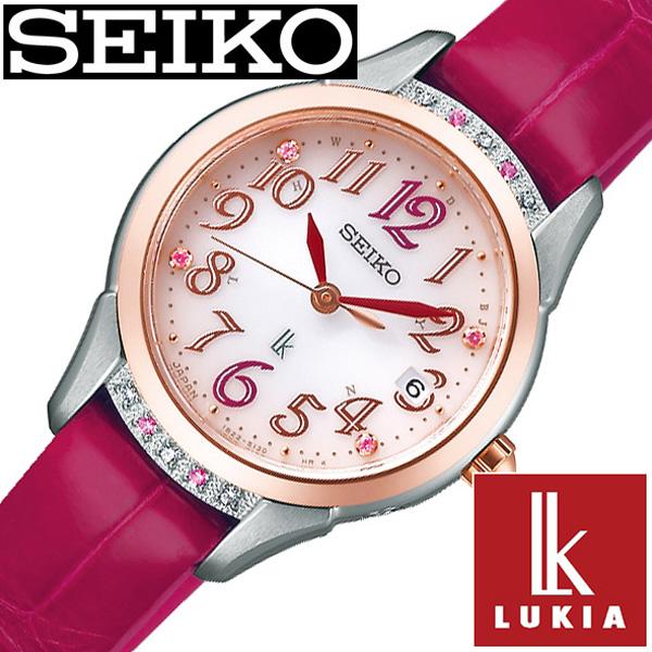 [あす楽]セイコー ルキア 腕時計 レディース ソーラー 電波 セイコールキア腕時計 SEIKOLUKIA 時計 SEIKO LUKIA 腕時計 レディース ピンク SSVW140 [ ダイヤ ピンクサファイア シンプル カレンダー コラボ 限定 ダイヤ かわいい ] 冬