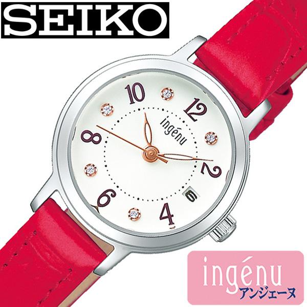 セイコー腕時計 SEIKO時計 SEIKO 腕時計 セイコー 時計 アルバ アンジェーヌ ALBA ingenu レディース ホワイト AHJK447 [ アナログ プレゼント ギフト ラウンド ビジネス カジュアル シンプル人気 かわいい ] 誕生日 冬