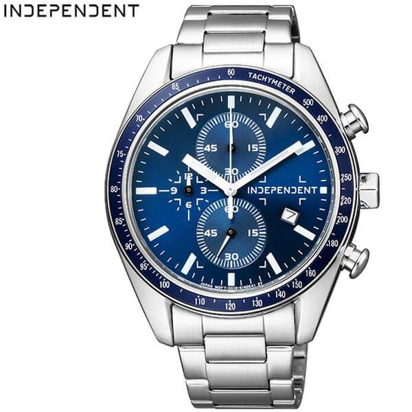 [当日出荷] シチズン腕時計 CITIZEN時計 CITIZEN 腕時計 シチズン 時計 インディペンデント タイムレスライン INDEPENDENT Timeless Line メンズ 男性 ブルー BA7-115-71 [正規品 クロノグラフ シンプル ラウンド おしゃれ ブランド]