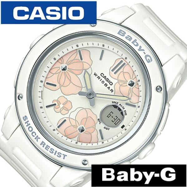 【SALE】(10%OFF) 割引 セール 安い カシオ腕時計 CASIO時計 CASIO 腕時計 カシオ 時計 ベビージー フローラル ダイアル BABY-G Floral Dial レディース 女性 ホワイト BGA-150FL-7AJF [ ベビーG ピンクゴールド ブランド 花柄 かわいい デジタル BGA-150 ] PT10