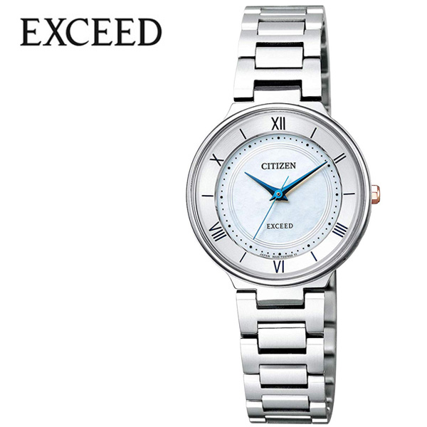 (電池交換不要) ソーラー シチズン腕時計 CITIZEN時計 CITIZEN 腕時計 シチズン 時計 エクシード EXCEED レディース ホワイト EX2090-57A [ ブルー プレゼント ギフト シンプル 人気 ラウンド ビジネス ファッション ] 誕生日