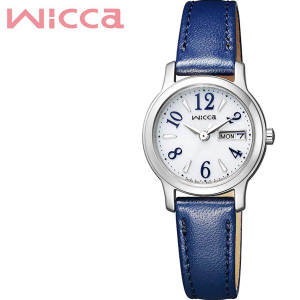 (電池交換不要) ソーラー シチズン腕時計 CITIZEN時計 CITIZEN 腕時計 シチズン 時計 ウィッカ wicca レディース シルバー KH3-410-10 [ カレンダー 革 シンプル 人気 おしゃれ ラウンド かわいい ビジネス カジュアル ] 誕生日