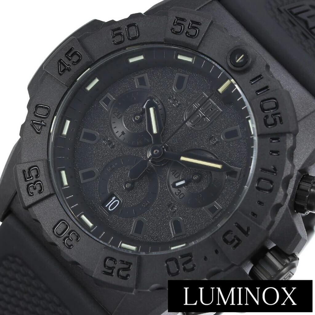 [当日出荷] ルミノックス腕時計 LUMINOX時計 LUMINOX 腕時計 ルミノックス 時計 ネイビー シール NAVY SEAL メンズ 男性 彼氏 ブラック LM-3581BO [おしゃれ ブランド ミリタリー クロノ スイス製 ブラックアウト シンプル カジュアル 防水 プレゼント ] 誕生日