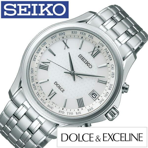 セイコー腕時計 SEIKO時計 SEIKO 腕時計 セイコー 時計 ドルチェ アンド エクセリーヌ Dolce and Exceline メンズ シルバー SADZ201 [ (電池交換不要) ソーラー 電波 シンプル ペア シンプル ビジネス コンフォテックス人気 ]