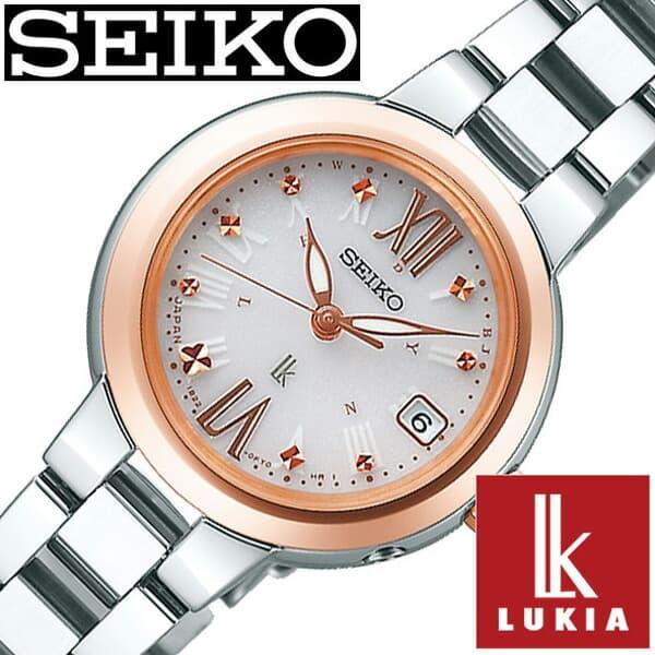 セイコー ルキア 腕時計 レディース (電池交換不要) ソーラー 電波 セイコー腕時計 SEIKO時計 SEIKO 腕時計 ルキア時計 LUKIA ホワイト SSVW138 [ おしゃれ かわいい ファッション ビジネス スーツ ラウンド 女性 仕事 ] 誕生日