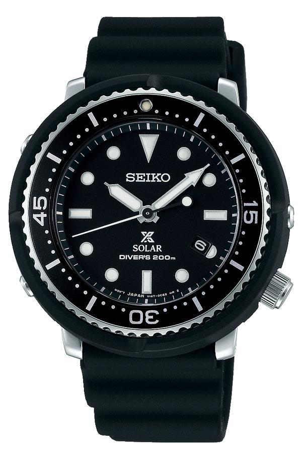セイコー腕時計 SEIKO時計 SEIKO 腕時計 セイコー 時計 プロスペックス PROSPEX メンズ ブラック STBR007 [ ソーラー LOWERCASE ロアケース 限定 デザイン 潜水 ダイビング ダイバー ファッション レディース シリコン プレゼント ギフト ][]