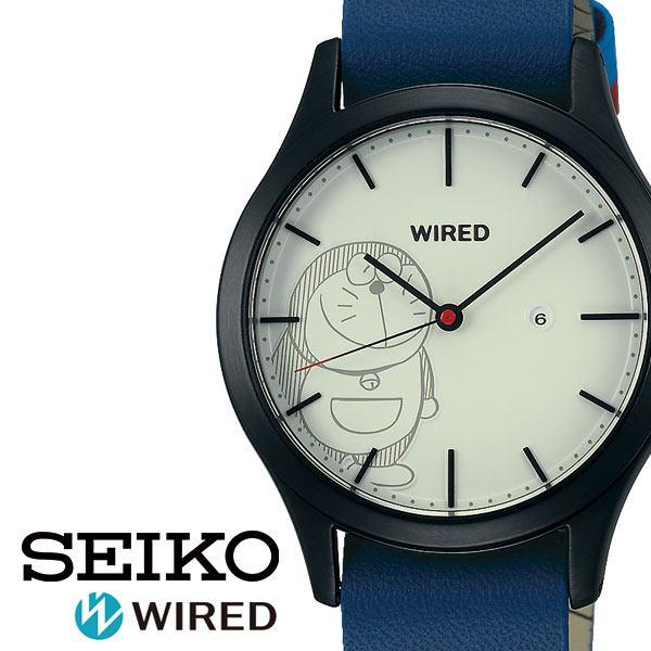 セイコー腕時計 SEIKO時計 SEIKO 腕時計 セイコー 時計 ワイアード WIRED ユニセックス ホワイト AGAK710 [ シルバー 革 シンプル プレゼント ギフト ラウンド かわいい ファッション カジュアル コラボ 漫画 ドラえもん ]