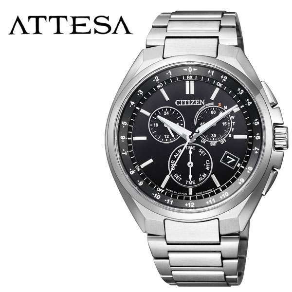 [当日出荷] (電池交換不要) ソーラー シチズン腕時計 CITIZEN時計 CITIZEN 腕時計 シチズン 時計 アテッサ ATTESA メンズ ブラック CB5040-80E [ 正規品 エコ・ドライブ クロノ 人気 ブランド カレンダー ファッション ビジネス ] 誕生日