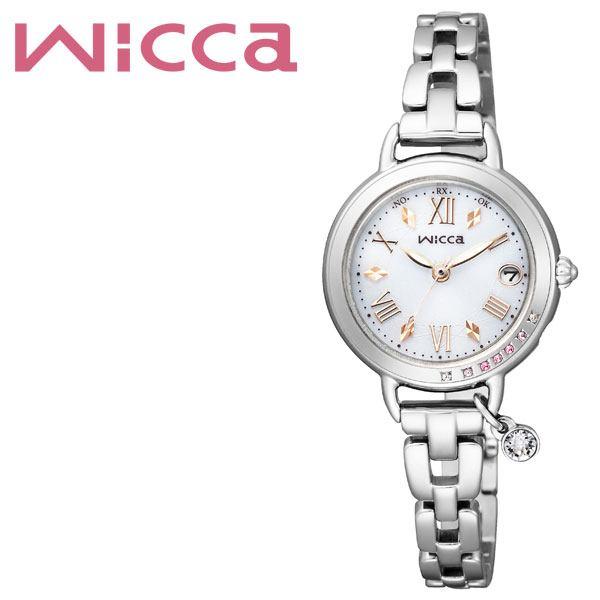 [当日出荷] (電池交換不要) ソーラー シチズン腕時計 CITIZEN時計 CITIZEN 腕時計 シチズン 時計 ウィッカ Wicca レディース ホワイト KL0-812-11 [ 正規品 シンプル ゴールド 電波 限定 ブランド ラウンド カレンダー かわいい ファッション ]