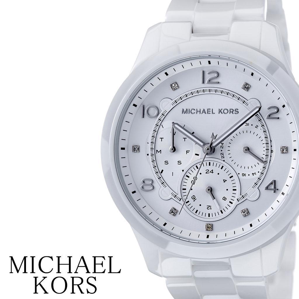 マイケルコース腕時計 MichaelKors時計 Michael Kors 腕時計 マイケル コース 時計 ランウェイ RUNWAY レディース 女性 ホワイト MK6617 [ ブランド 防水 おしゃれ かわいい 人気 きらきら MK アナログ シンプル プレゼント ギフト ][送料無料]