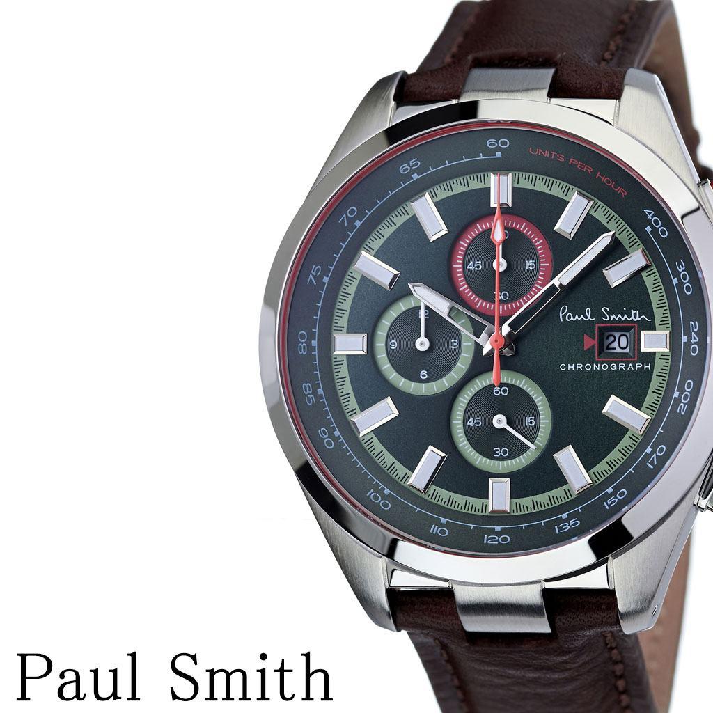 ポールスミス腕時計 Paulsmith時計 Paul smith 腕時計 ポール スミス 時計 メンズ 男性 彼氏 大学生 グリーン PS0110013 [ ブランド 安い人気 お洒落 流行 クロノグラフ シンプル アナログ ビジネス ラウンド プレゼント ]