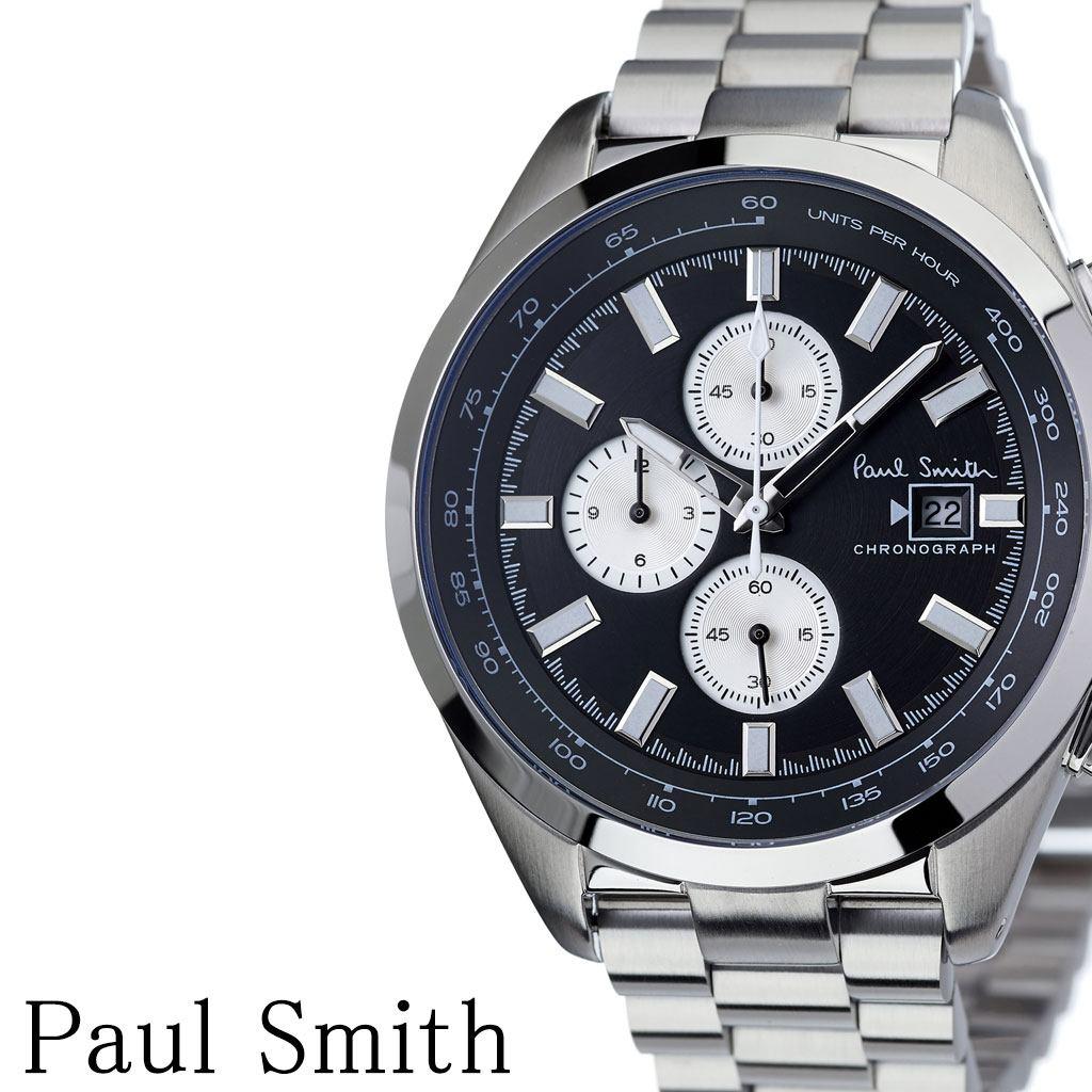 ポールスミス腕時計 Paulsmith時計 Paul smith 腕時計 ポール スミス 時計 メンズ 男性 彼氏 大学生 ブラック PS0110014 [ ブランド 安い人気 お洒落 流行 クロノグラフ シンプル アナログ ビジネス ラウンド プレゼント ギフト ][送料無料]