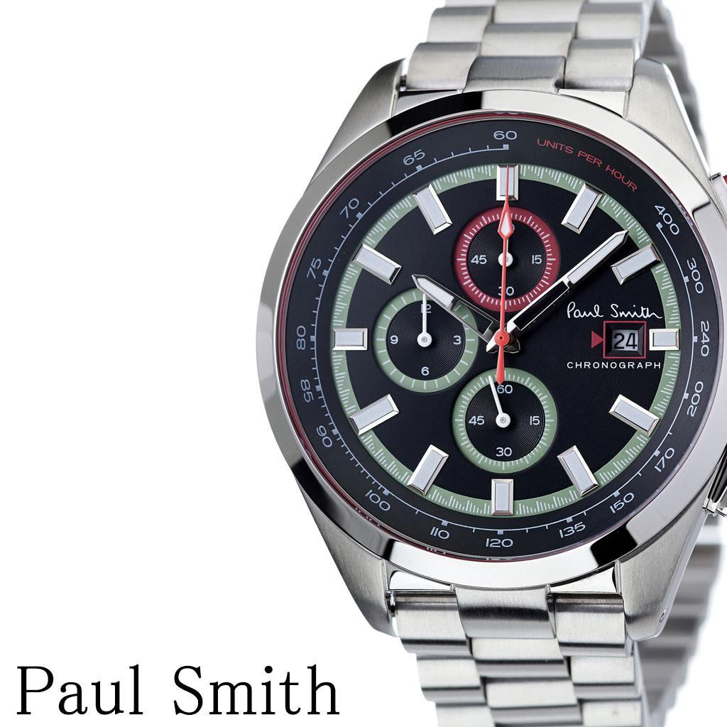 ポールスミス腕時計 Paulsmith時計 Paul smith 腕時計 ポール スミス 時計 メンズ 男性 彼氏 大学生 ブラック PS0110015 [ ブランド 安い人気 お洒落 流行 クロノグラフ シンプル アナログ ビジネス ラウンド プレゼント ギフト ][送料無料]