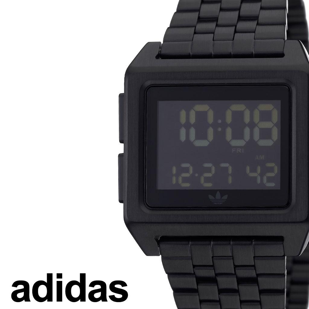 [あす楽]アディダス腕時計 adidas時計 adidas 腕時計 アディダス 時計 アーカイブエム1 ARCHIVE_M1 ペアウォッチ ブラック 黒 Z01-001-00 [ ブランド お洒落 おすすめ スクエア 四角 韓国 ストリート プレゼント ] 誕生日 PT10