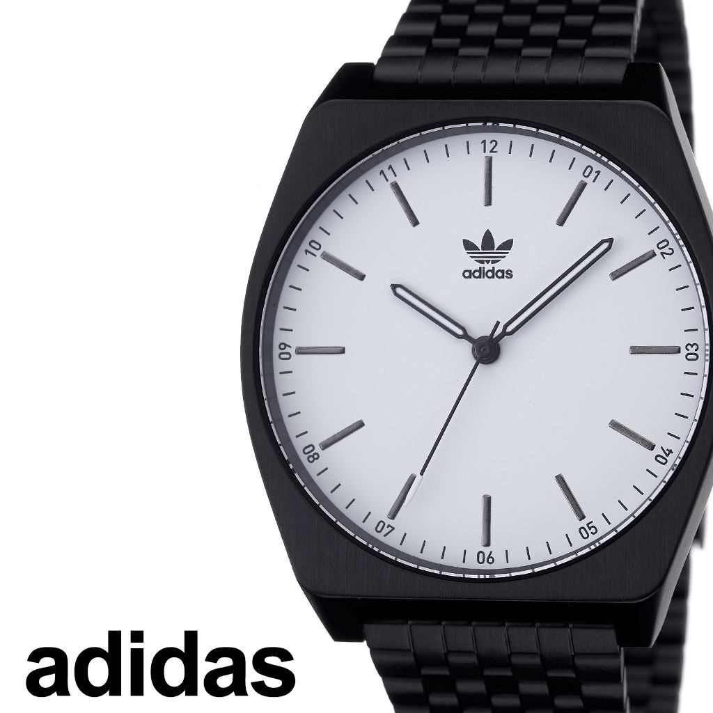 アディダス腕時計 adidas時計 adidas 腕時計 アディダス 時計 プロセスエム1 Process_M1 カップル 彼女 彼氏 男性 女性 メンズ レディース ホワイト Z02-005-00 [ ブランド お洒落 ラウンド シンプル ステンレス ファッション ストリート プレゼント ギフト ][送料無料]