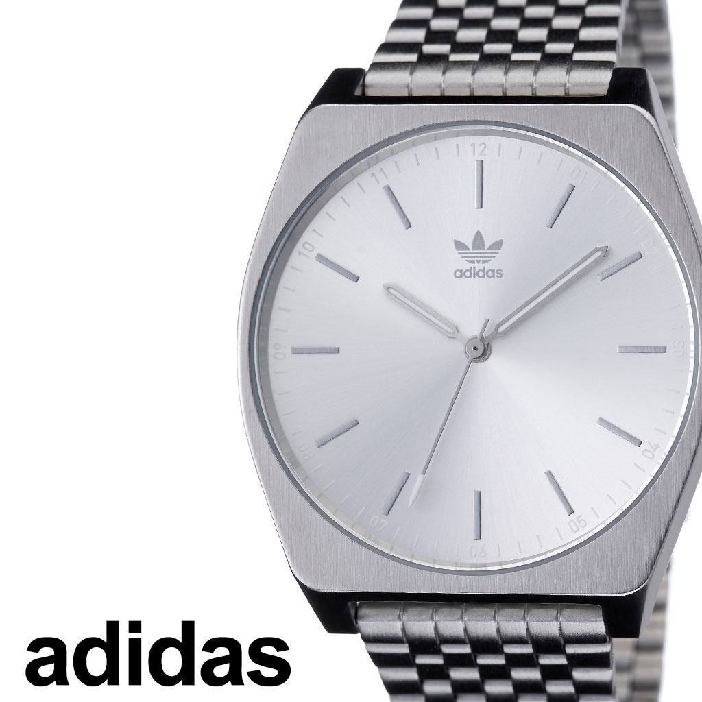 アディダス腕時計 adidas時計 adidas 腕時計 アディダス 時計 プロセスエム1 Process_M1 カップル 彼女 彼氏 男性 女性 メンズ レディース シルバー Z02-1920-00 [ ブランド お洒落 ラウンド シンプル ステンレス ファッション ストリート プレゼント ]
