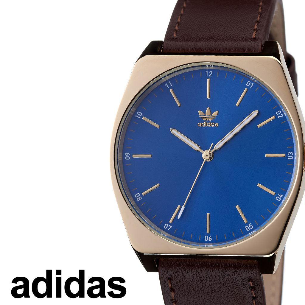 [当日出荷] アディダス腕時計 adidas時計 adidas 腕時計 アディダス 時計 プロセスエル1 PROCESS_L1 カップル 男性 女性 レディース ネイビー Z05-2959-00 [ ブランド 革ベルト レザー お洒落 ゴールド ラウンド シンプル プレゼント ]