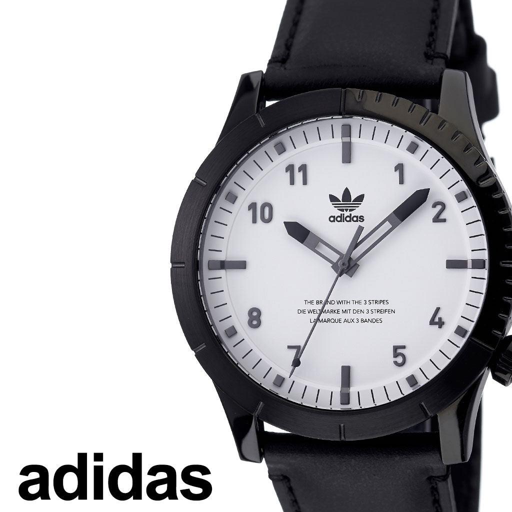 アディダス腕時計 adidas時計 adidas 腕時計 アディダス 時計 サイファーエルエックス1 CYPHER_LX1 カップル 彼氏 男性 メンズ ホワイト Z06-005-00 [ ブランド 革ベルト レザー お洒落 ラウンド シンプル アナログ ビジカジ カジュアル プレゼント ギフト ][送料無料]