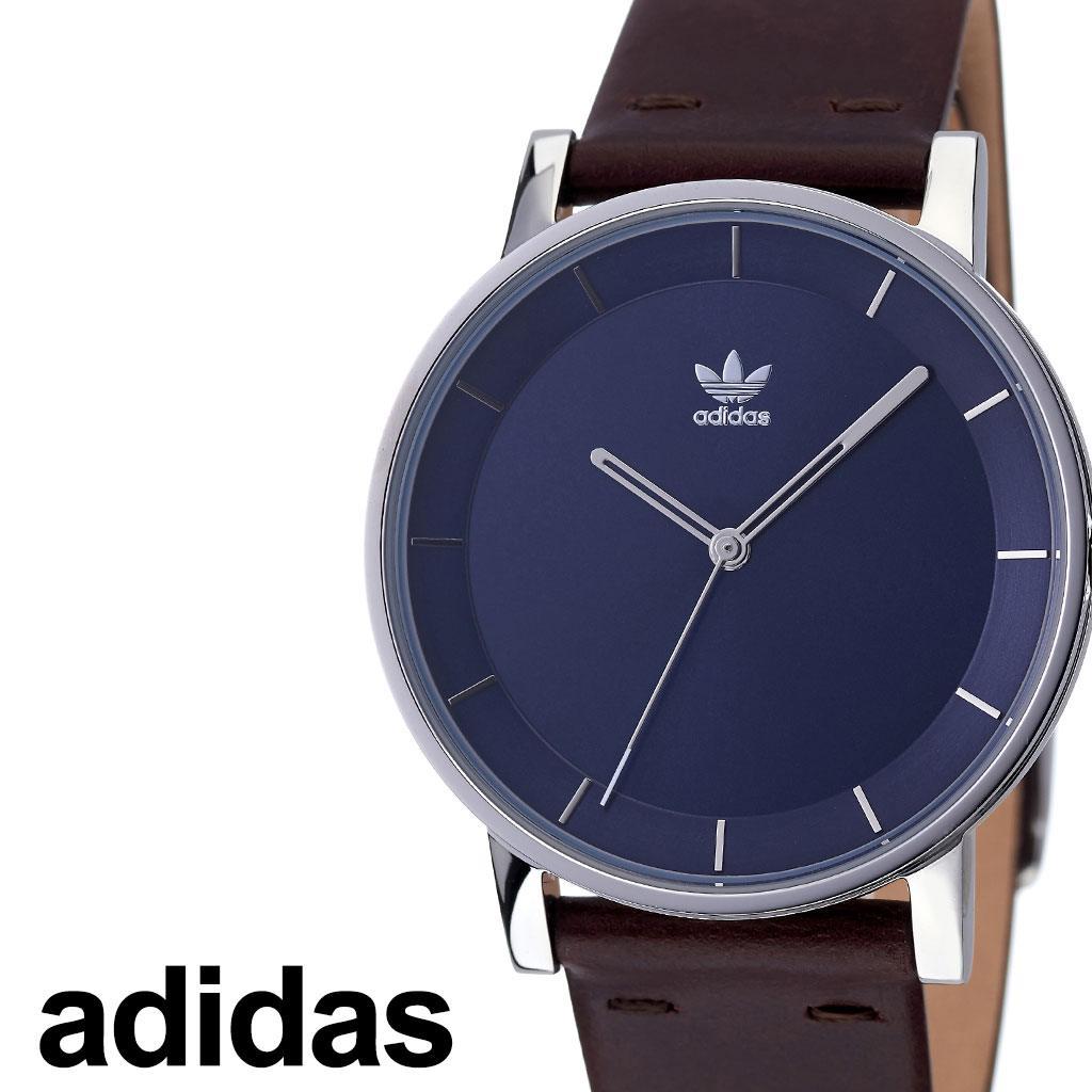 [あす楽]アディダス腕時計 adidas時計 adidas 腕時計 アディダス 時計 ディストリクトエル1 DISTRICT_L1 カップル 彼氏 男性 女性 メンズ レディース ネイビー Z08-2920-00 [ ブランド ペアウォッチ 人気 お洒落 シルバー 革ベルト レザー シンプル プレゼント ]