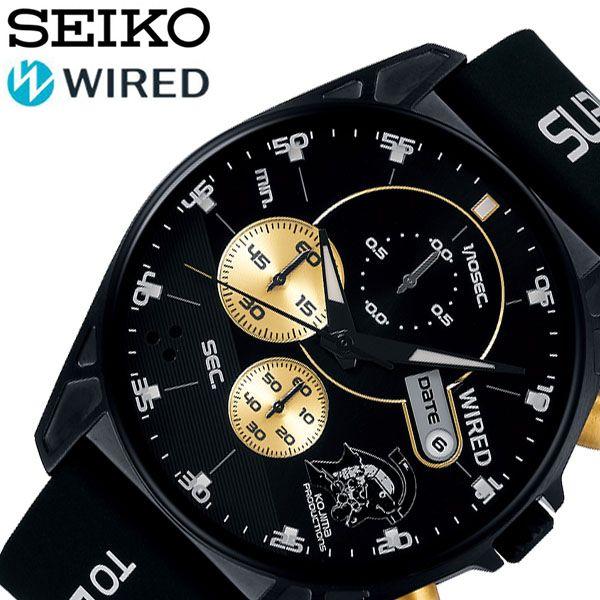 【ビジネスマンに人気】 セイコー腕時計 SEIKO時計 SEIKO 腕時計 セイコー 時計 ワイアード WIRED メンズ ブランド ブラック AGAT729 [ 正規品 人気 限定 彼氏 旦那 夫 おしゃれ かっこいい ゴールド カレンダー コジマプロダクション プレゼント ギフト]