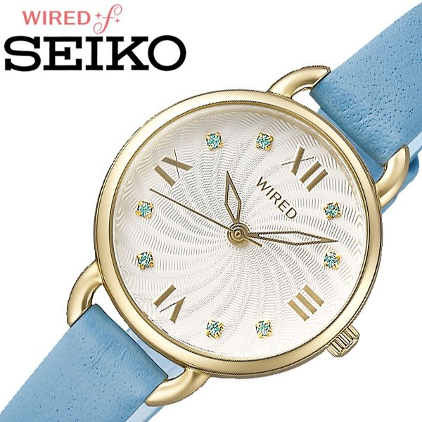 ソーラー セイコー腕時計 SEIKO時計 SEIKO 腕時計 セイコー 時計 ワイアード エフ WIRED f レディース シルバー AGEK445 [ 正規品 人気 ブランド スワロフスキー クリスタル ダイヤモンド 人気 おしゃれ お祝い ] 誕生日
