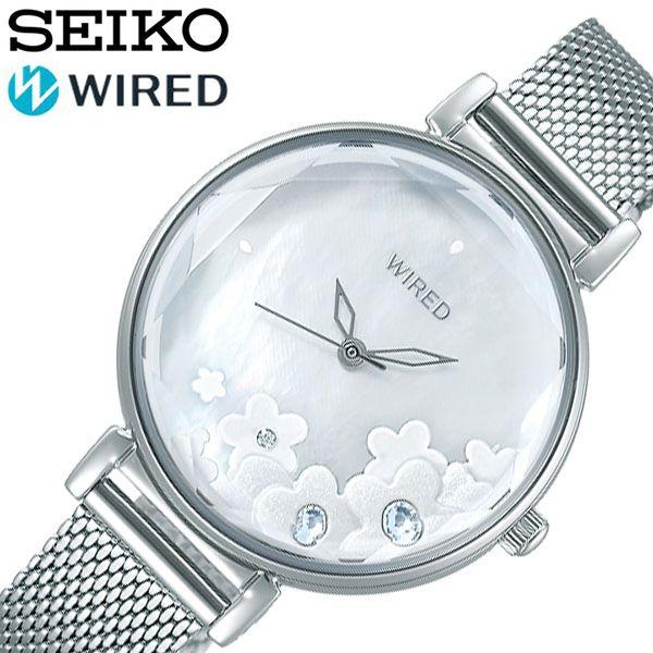 セイコー腕時計 SEIKO時計 SEIKO 腕時計 セイコー 時計 ワイアード WIRED レディース シルバー AGEK449 [ 正規品 人気 彼女 嫁 妻 おしゃれ かわいい きれい 綺麗 クリスタル アクセサリー プレゼント ギフト ] 誕生日
