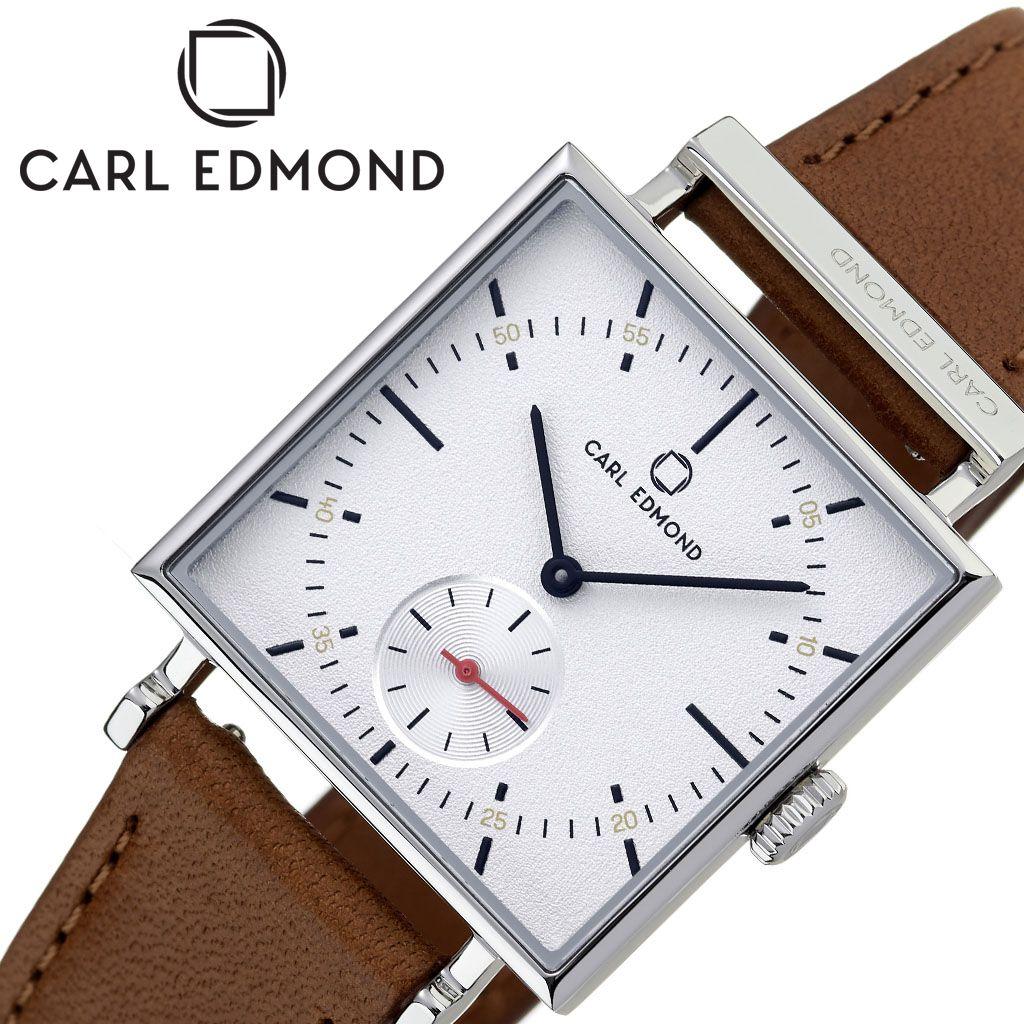 カール エドモンド腕時計 CARL EDMOND時計 CARLEDMOND 腕時計 カールエドモンド 時計 グラニット Granit レディース 白 CEG2951-KB18 [ 正規品 ブランド 北欧 レザー 革ベルト 30代 カップル お揃い 防水 スクエア型 おしゃれ プレゼント 女性 向け ギフト ]