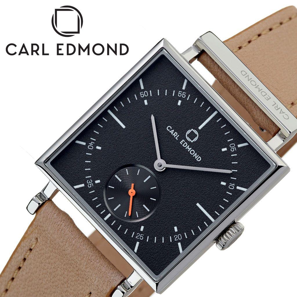 カール エドモンド腕時計 CARL EDMOND時計 CARLEDMOND 腕時計 カールエドモンド 時計 グラニット Granit レディース チャコール CEG2952-N18 [ 正規品 ブランド 北欧 レザー 革ベルト 30代 カップル お揃い 防水 スクエア型 おしゃれ プレゼント 女性 向け ギフト ]