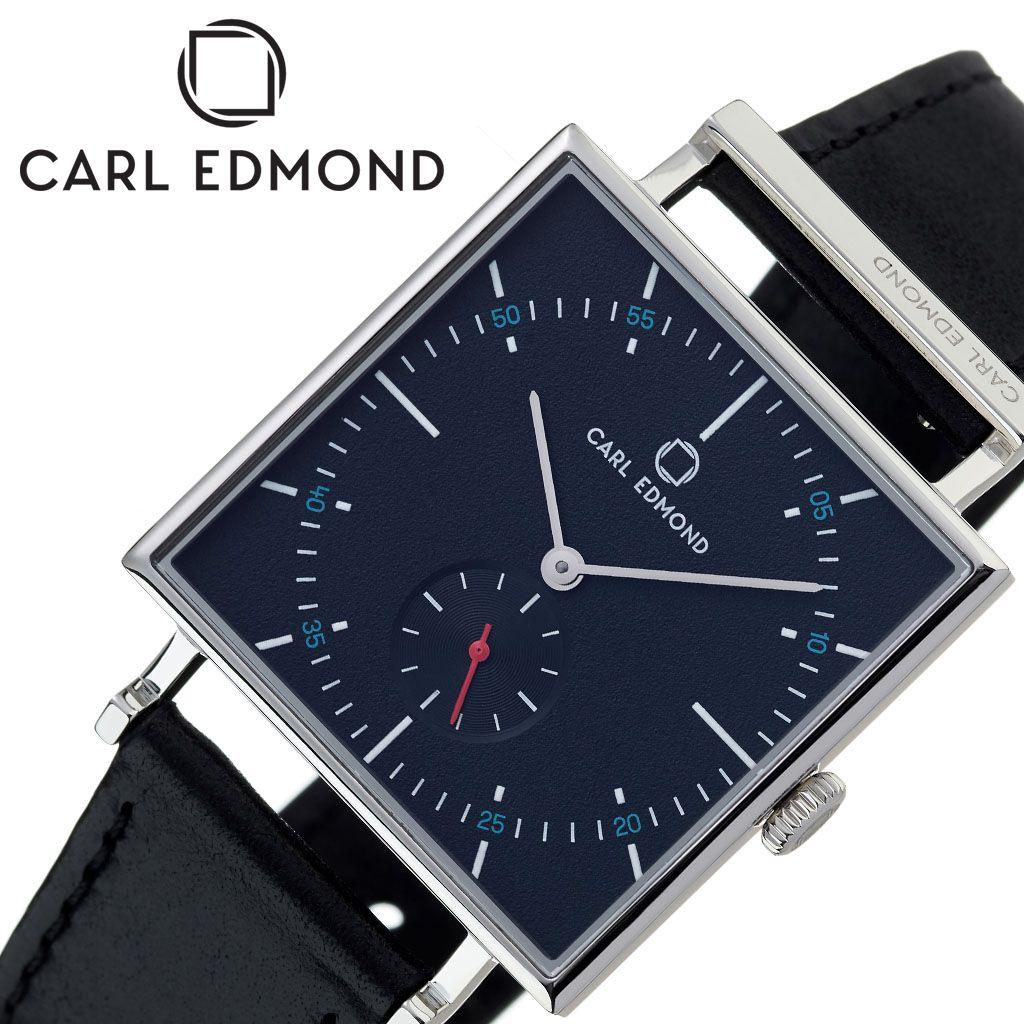 カール エドモンド腕時計 CARL EDMOND時計 CARLEDMOND 腕時計 カールエドモンド 時計 グラニット Granit レディース ブラック CEG3455-B21 [ 正規品 ブランド アンティーク 北欧 レザー 革ベルト 30代 カップル お揃い 仕事 防水 スクエア型 おしゃれ プレゼント ギフト ]