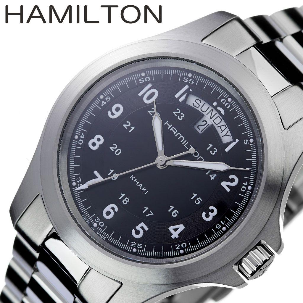 【人気シリーズ】ハミルトン カーキ 腕時計 HAMILTON時計 HAMILTON ハミルトン 時計 KHAKI メンズ ブラック H64451133 [ おすすめ ブランド 防水 高級 プレゼント ギフト スーツ おしゃれ カレンダー 男性 ]