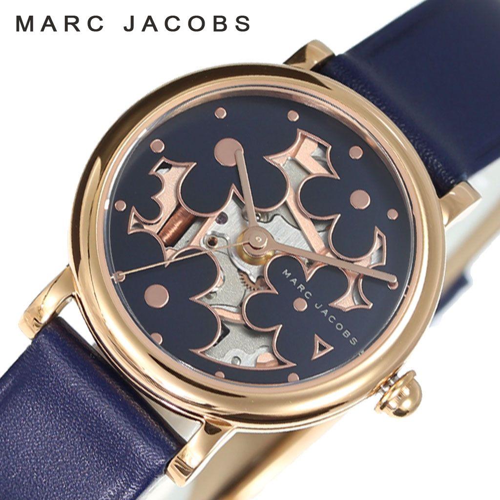 マークジェイコブス腕時計 Marc Jacobs時計 Marc Jacobs 腕時計 マーク ジェイコブス 時計 クラシック CLASSIC レディース ネイビー MJ1628 [ 新作 ブランド 防水 おしゃれ シンプル プレゼント ギフト OL かわいい 普段使い フェミニン レザー 革ベルト 女性 スケルトン ]