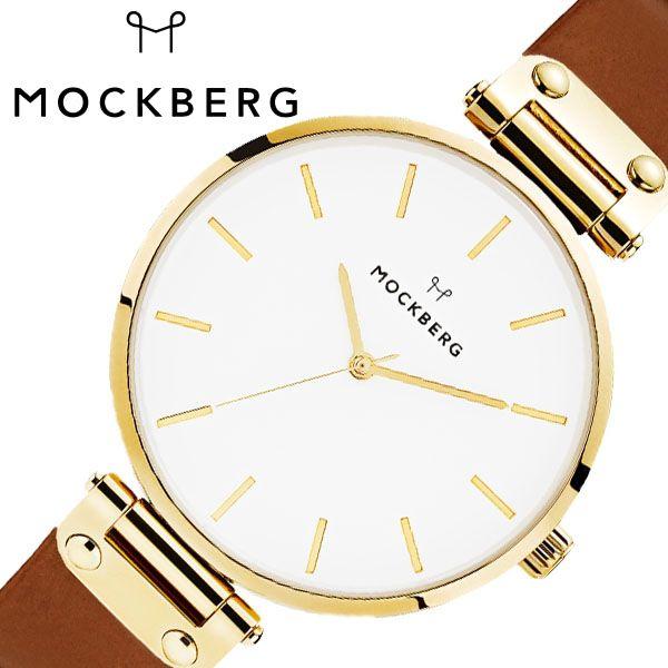 [当日出荷] モックバーグ腕時計 MOCKBERG時計 MOCKBERG 腕時計 モックバーグ 時計 Original レディース ホワイト MO511 [ 正規品 人気 ブランド 女性用 妻 上品 かわいい 薄型 アクセサリー シンプル 革 ゴールド プレゼント ギフト ] 誕生日