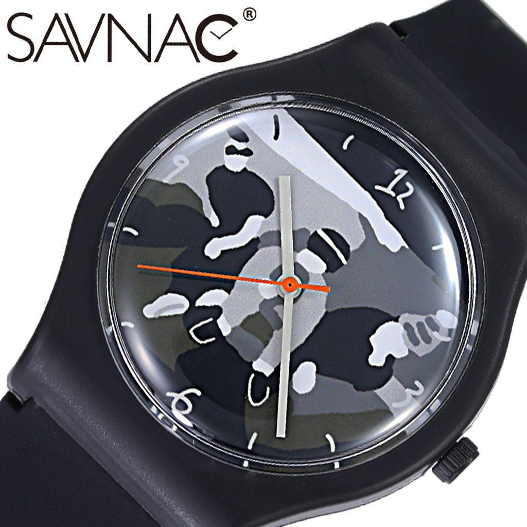 【カモフラ風】 サブナック腕時計 SAVNAC時計 SAVNAC 腕時計 サブナック 時計 コットン パン ビースティー COTTON PAN Beastie BEA01 [ 正規品 ブランド 防水 おしゃれ 個性派 ポップ アーティスト イラスト シンプル プレゼント ギフト ラバー ]