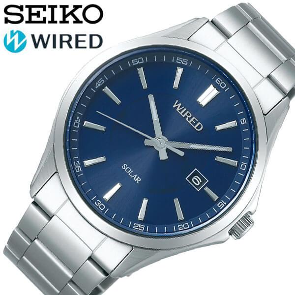 セイコー腕時計 SEIKO時計 SEIKO 腕時計 セイコー 時計 ワイアード wired メンズ ブルー AGAD404 [ 人気 ビジネス おしゃれ 防水 彼氏 旦那 夫 スーツ シンプル ファッション カジュアル プレゼント ギフト ソーラー ]