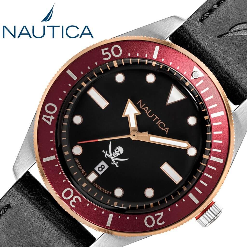 ノーティカ腕時計 NAUTICA時計 NAUTICA 腕時計 ノーティカ 時計 HILLCREST メンズ 男性 ブラック NAPHCP904 [ 人気 ブランド おしゃれ ファッション ドクロ カジュアル 旦那 彼氏 夫 ギフト プレゼント ] 誕生日