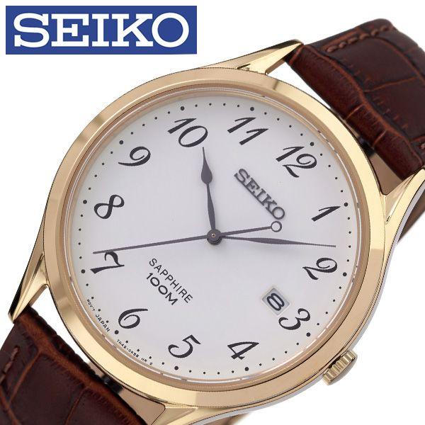 [当日出荷] セイコー腕時計 SEIKO時計 SEIKO 腕時計 セイコー 時計 メンズ 男性 ホワイト SGEH78P1 [ 人気 ブランド 逆輸入 定番 おしゃれ ファッション フォーマル スーツ 営業 商社 プレゼント ギフト ] 誕生日