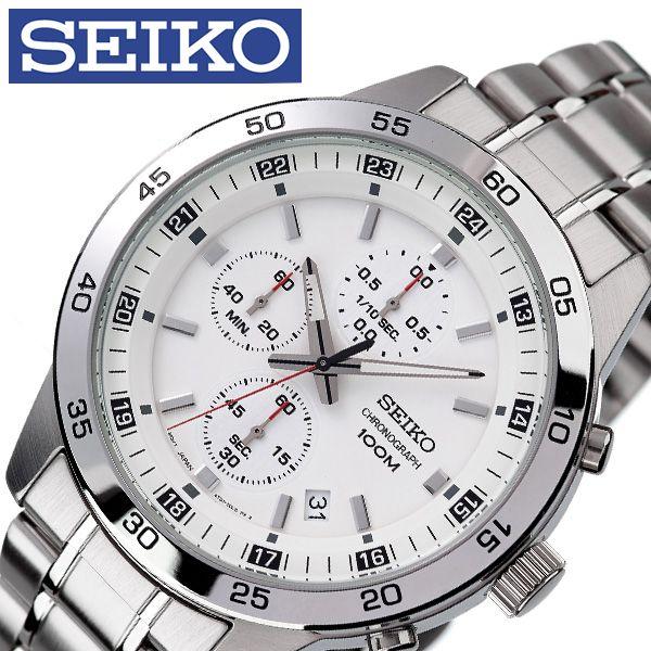[当日出荷] セイコー腕時計 SEIKO時計 SEIKO 腕時計 セイコー 時計 メンズ 男性 ホワイト SKS637P1 [ ブランド 逆輸入 定番 おしゃれ ファッション フォーマル スーツ 営業 商社 プレゼント ギフト ] 誕生日