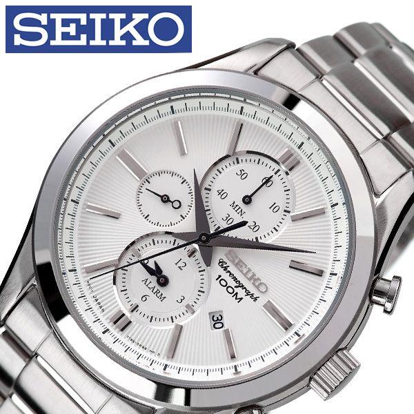[当日出荷] セイコー腕時計 SEIKO時計 SEIKO 腕時計 セイコー 時計 メンズ 男性 ホワイト SNAF63P1 [ 人気 ブランド 逆輸入 定番 おしゃれ ファッション フォーマル スーツ 営業 商社 プレゼント ギフト ] 誕生日